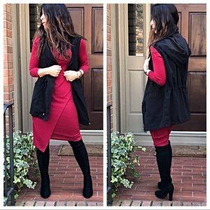 Jackets & Blazers - Black hooded vest
